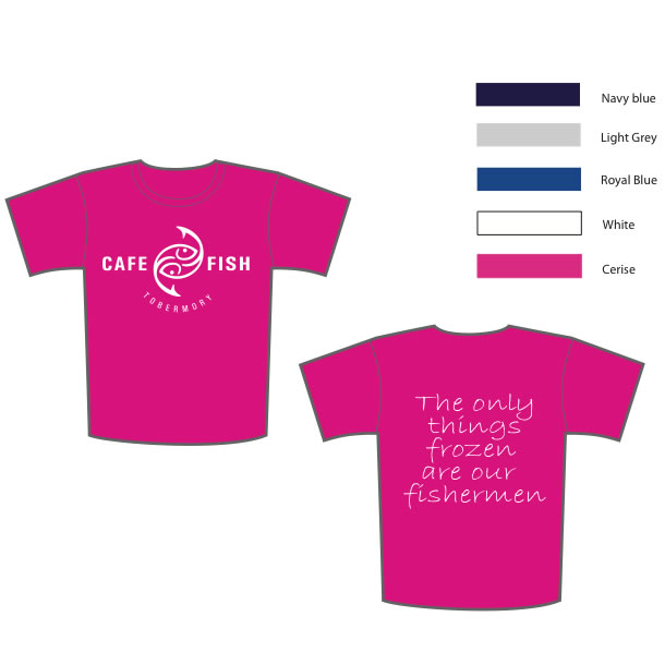 Cafe Fish T-shirt - Click to enlarge